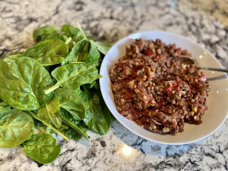 lentil veggie meal