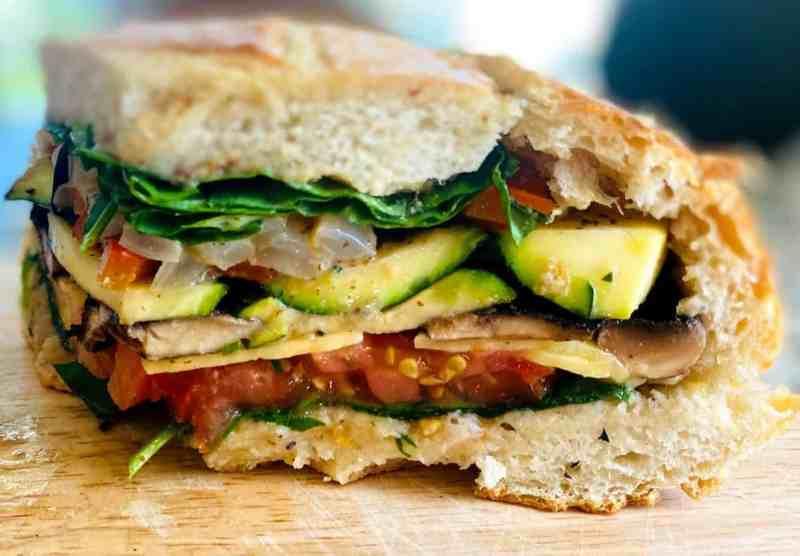 Muffuletta Sandwich served