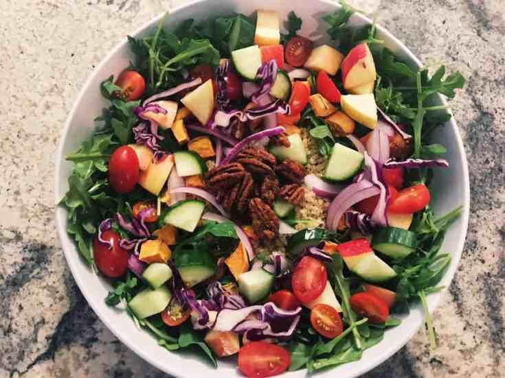 Harvest Quinoa Salad with Smokey Maple Dijon Dressing