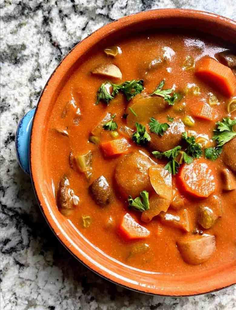 Mushroom Stew close up