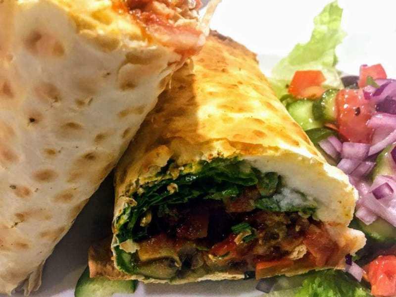 Roasted Vegetable Lavash Wrap