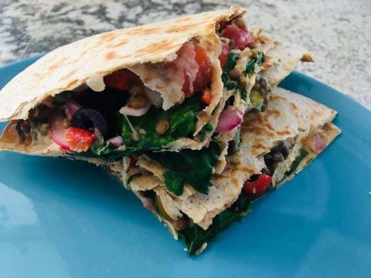 Vegan Greek Quesadilla