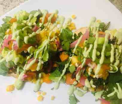IMG_8713-300x257 Roasted Broccolini and Sweet Potato Tostados