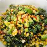 IMG_8882 Kale and Quinoa Southwestern Salad with Cumin Citrus Dressing
