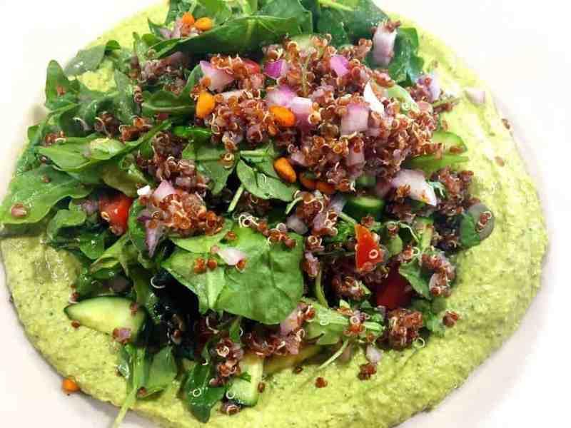 43012542451_a849db0920_o-1024x768 Skinny Cilantro Jalapeno Hummus Salad Dip