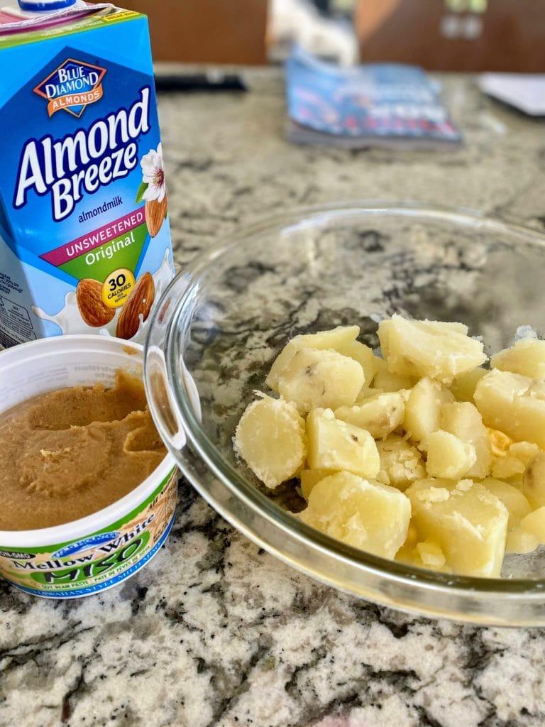 Vegan mashed potato ingredients