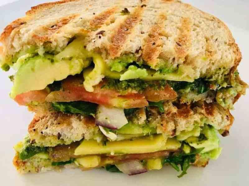 Vegetable Panini Vegan Pesto