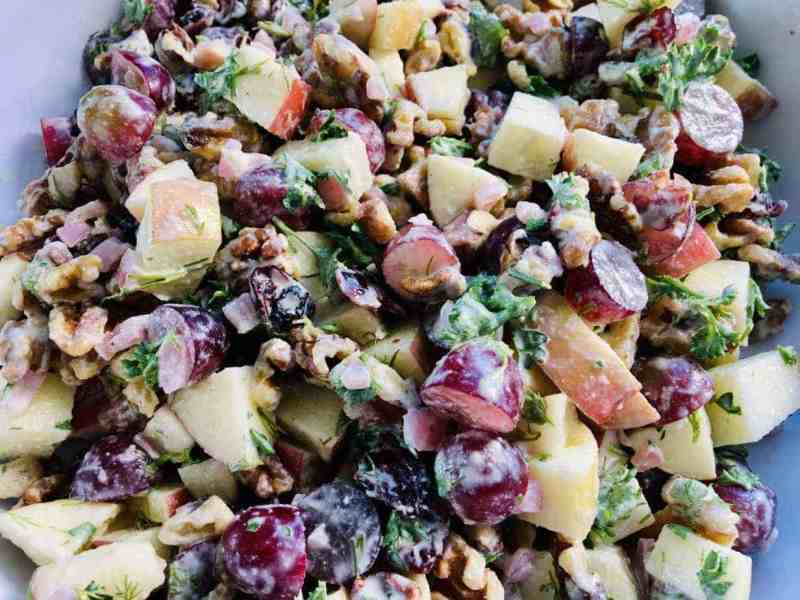 Vegan-Waldorf-Salad-1-scaled Skinny Vegan Waldorf Salad
