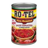 RoTel Fire Roasted Diced Tomatoes & Green Chilies, 10 oz (pack of 6)