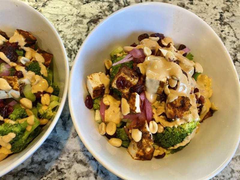 Broccoli Curry Crunch Salad