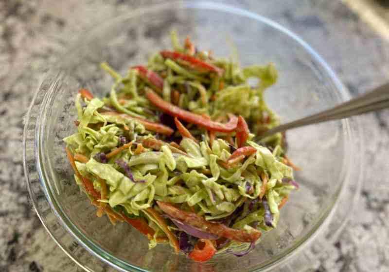IMG_0536-1024x718 Vegan Coleslaw with Avocado & Cilantro