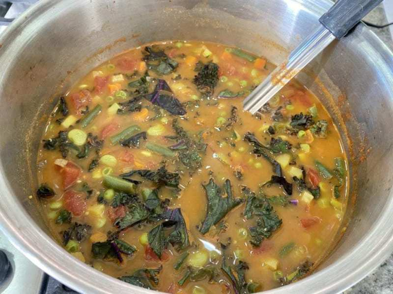 chickpeas soup close up