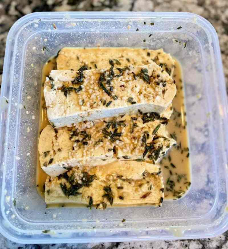 herb marinaded tofu 12 hours