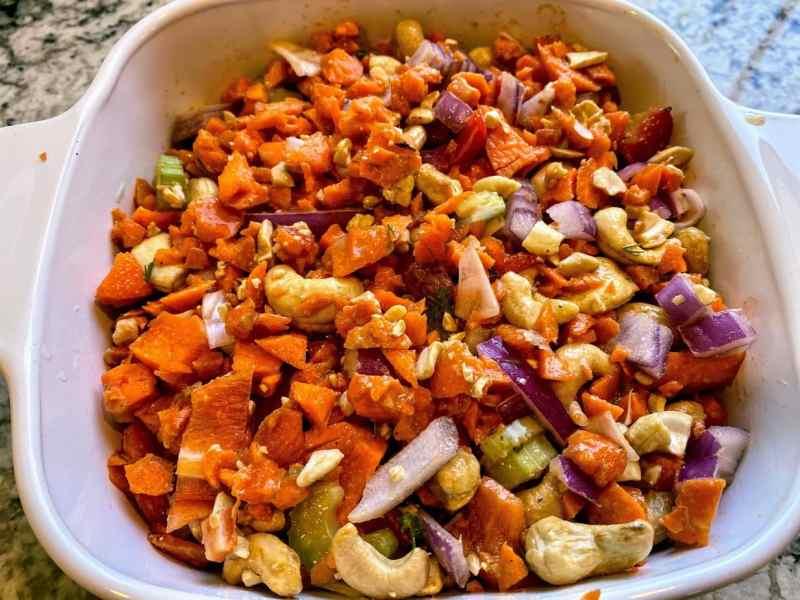 vegan carrot soup ingredients casserole dish