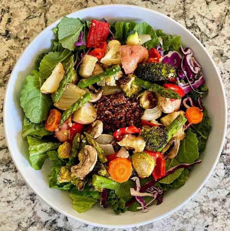 Roasted vegetabale salad
