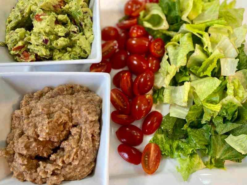 vegan faijitas toppings