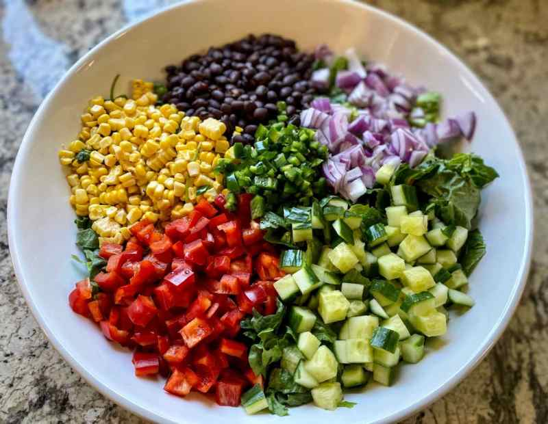 Southwest salad Ingredients