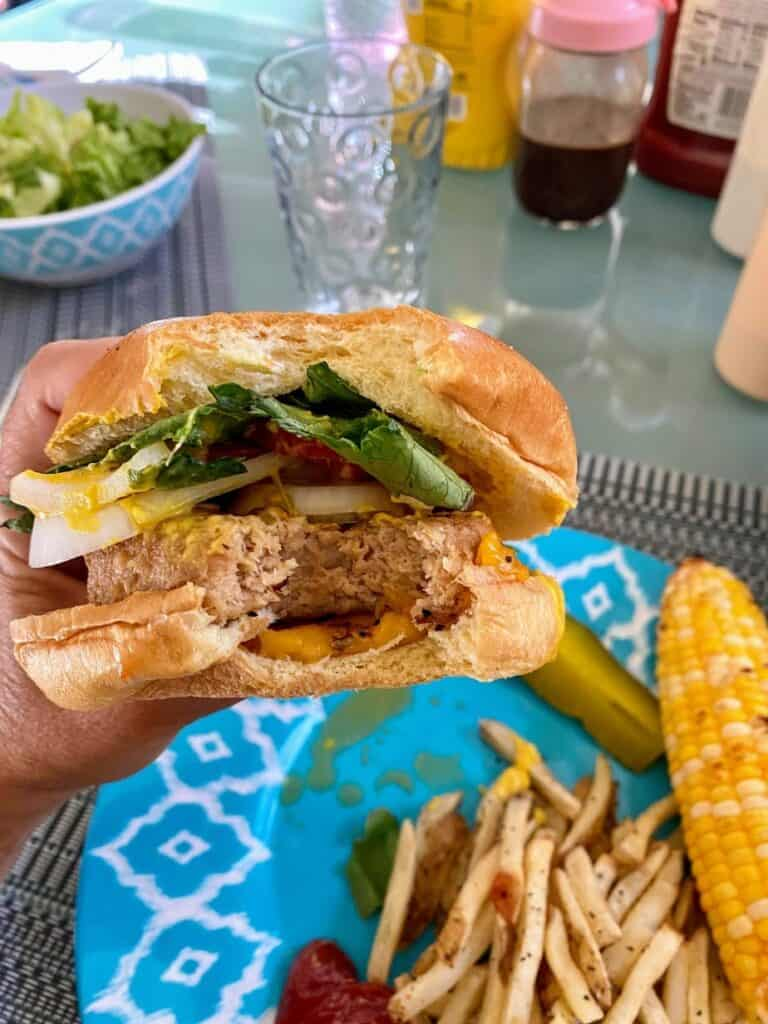 Trader Joe's Turkeyless Burger Eat
