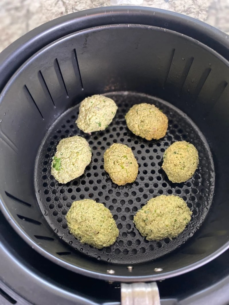 Air fried falafel recipe