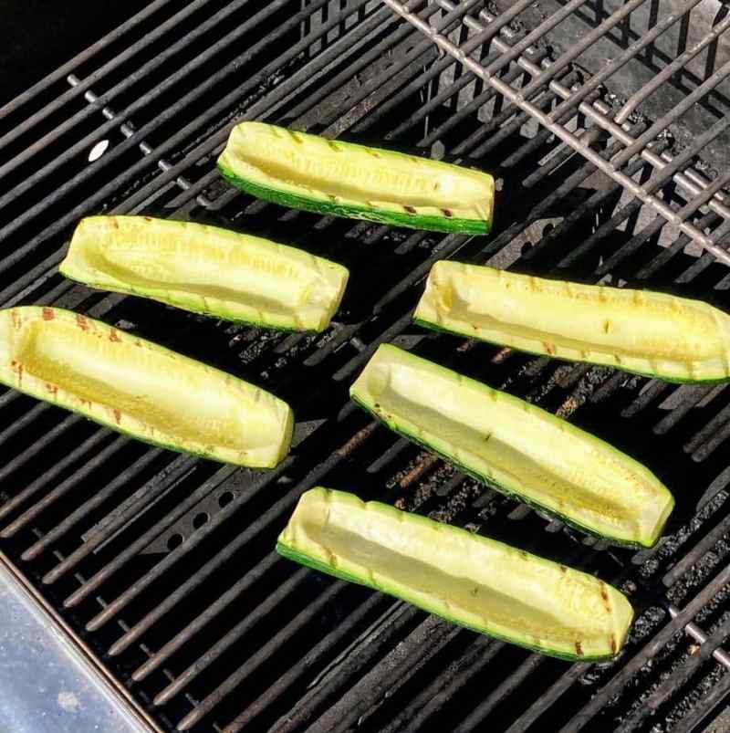 grilled zucchini stuffed zucchini