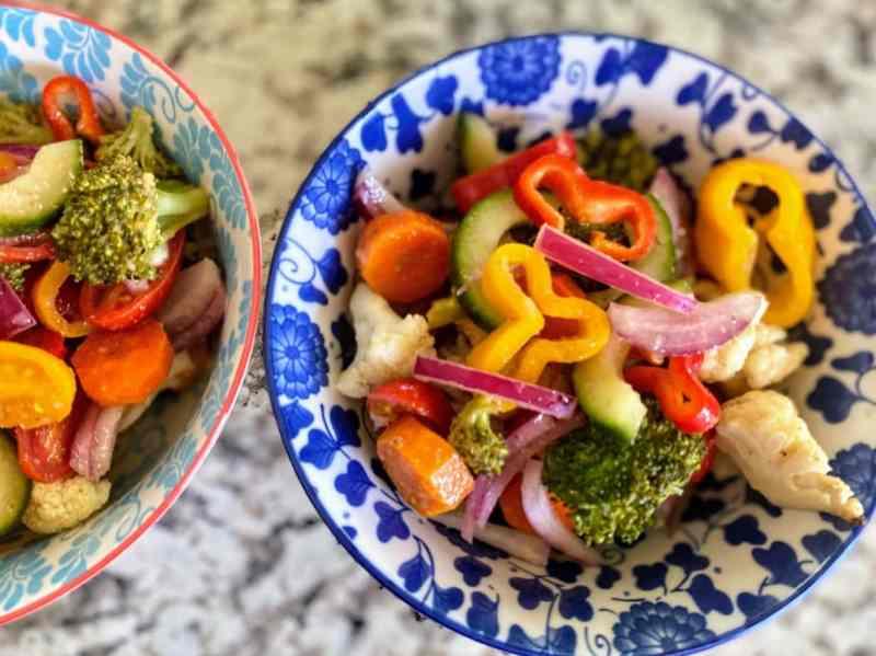 marinated vegetable salad served