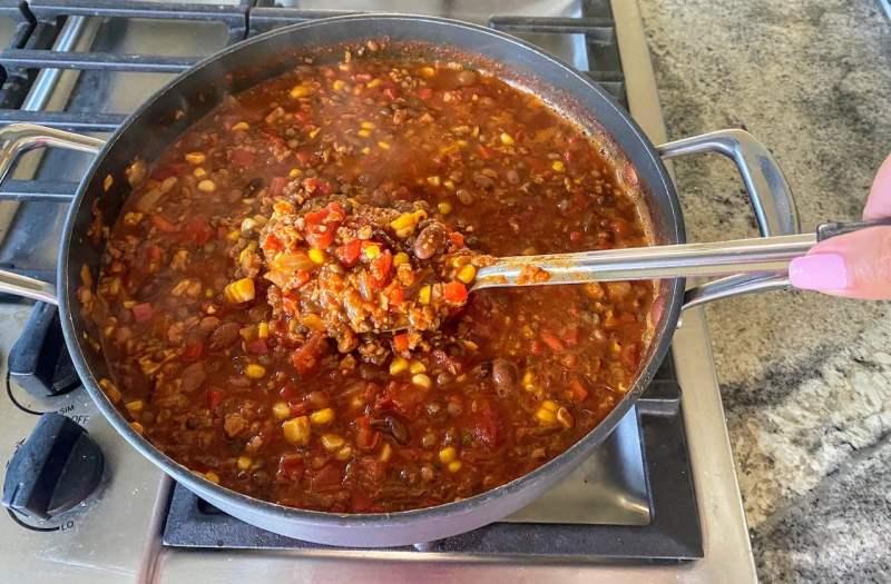 Lentil chili recipe cooking