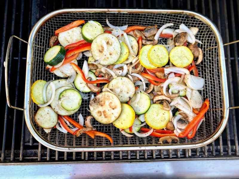 Grilling vegeatables for Italian Sandwiches