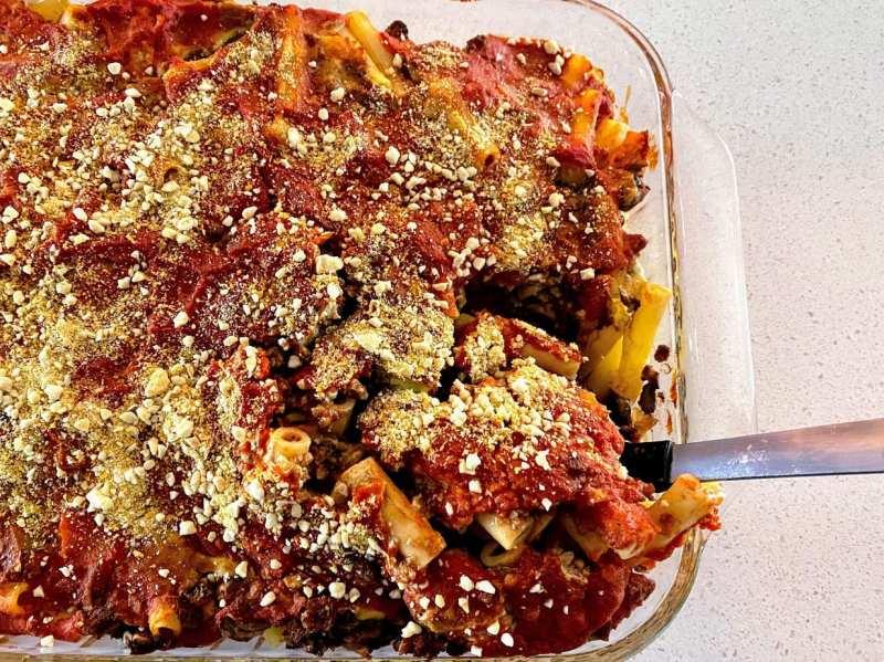 serving baked ziti recipe