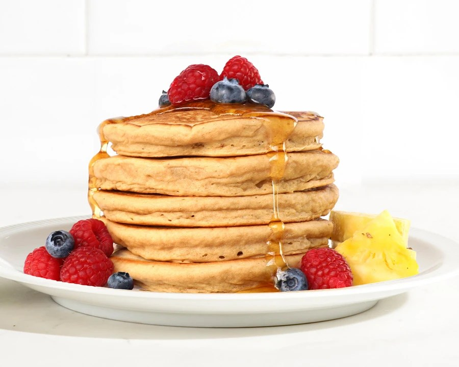 Birch Benders Plant Based Protein Pancakes with Fruit