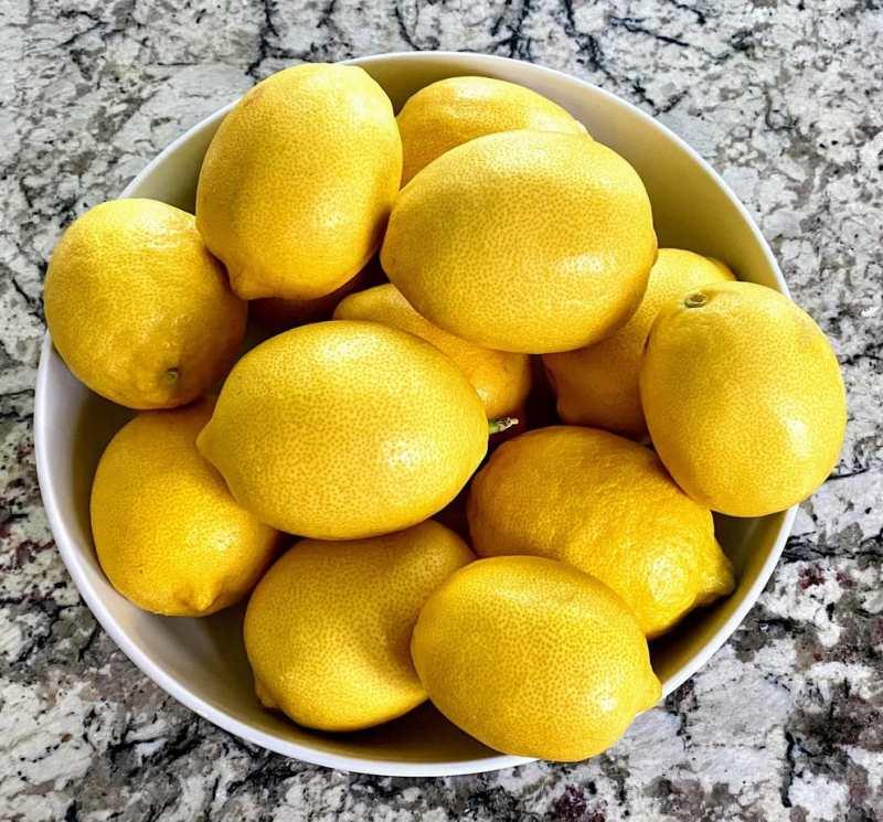Lemons for blueberry lemon bread