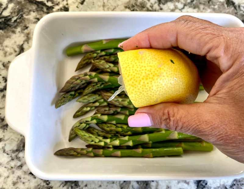 adding lemon