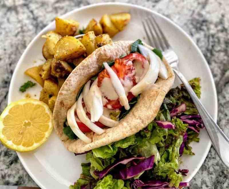 vegan shawarma close up
