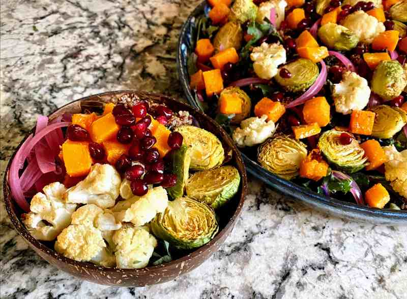 Butternut squash salad with kale
