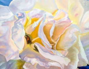 """White Rose"" 42"" x 36"" Collectible Giclee Print, Limited Ed., $450.00. Simple Box Frame included"
