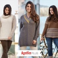 Katia Plus: Strickanleitungen für die Größen 44 bis 54