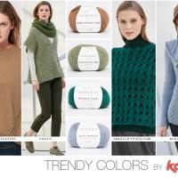 Entdecke die vier Trendfarben Herbst-Winter 17/18 mit unseren neuen Garnen und dem Magazin Katia Concept