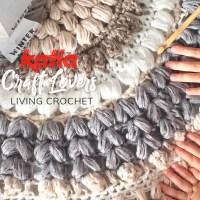 Living Crochet zeigt dir, wie man aus Katia Winter Washi einen runden Teppich häkelt