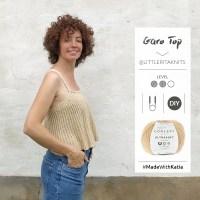 Top Garo von Little Rita: Stricke ein luftig-leichtes ausgestelltes Trägertop auf der Rundstricknadel