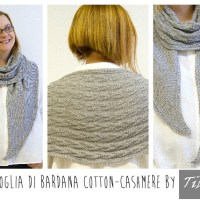 Craft Lovers ♥ Foglia di Bardana shawl knitted by Tibisay with Katia Cotton-Cashmere