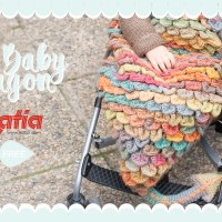 Learn how to do Scale Stitch and make this crochet Dragon Baby Sack using Katia Azteca