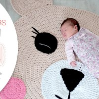 Craft Lovers ♥ Crochet Bear Rug made with Katia Big Ribbon by Follow the Crochet