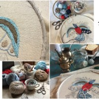 Learn embroidery with Gimena Romero and her video Back Step Stitch using Katia Cablè 5