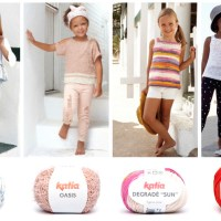 Here are the 7 easiest knit patterns for girls feature in the Katia Kids 81 magazine