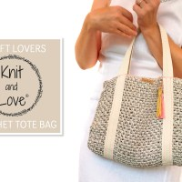 Learn how to make a simple raffia Tote Bag using the video and the Knit and Love crochet pattern