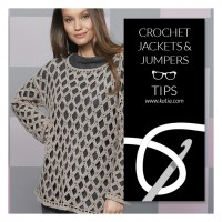 How to crochet a sweater? Tips about yarns, hooks, sizes, gauge swatches, finishes, dye lots...