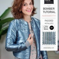 Learn how to sew a bomber jacket with the new padded metallized quilting fabric