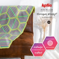 Participate in #MyHexagonDesign and win 20 balls to make the customizable Hexagon Blanket by @dendennis