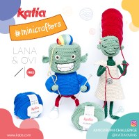 Amigurumi Challenge with Lana & Ovi, Katia's Minicrafters that fearlessly knit everything they imagine