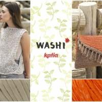 5 patrones muy fáciles de tejer a punto y ganchillo con Katia Washi