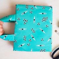 Aprende cómo coser una funda de libro